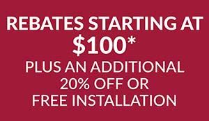 Hunter Douglas rebates starting at $100 plus an additional 20% OFF or FREE installation - this month at Abbey Carpet & Floor in Adrian.