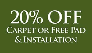 20% OFF Carpet or FREE Pad & Installation at Abbey Carpet & Floor in Adrian