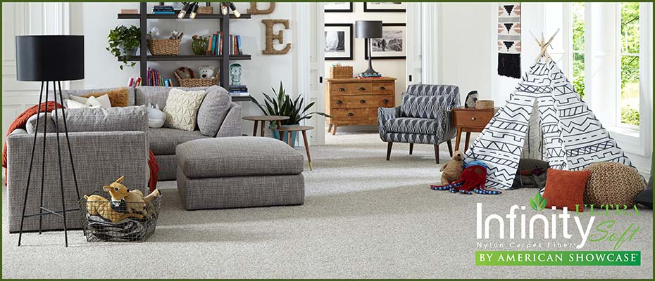 20% OFF Infinity UltraSoft Carpet or FREE Pad & Installation at Abbey Carpet & Floor in Adrian