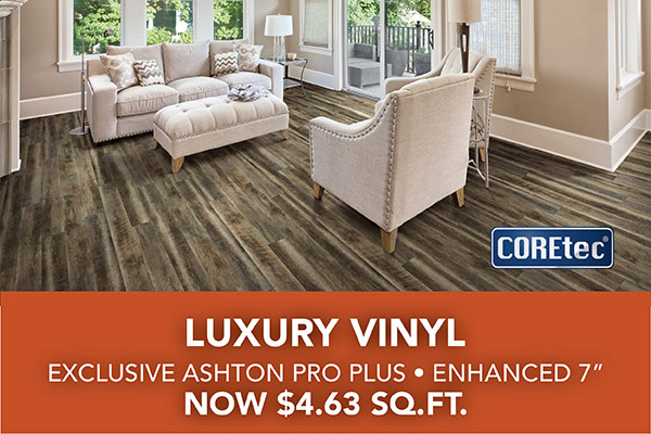 COREtec Luxury Vinyl Flooring on Sale $4.63 sq. ft. at Abbey Carpet & Floor in Adrian, MI