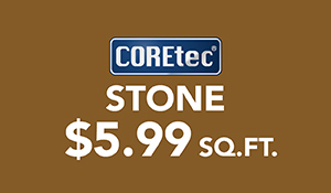 COREtec Stone Flooring on Sale $5.99 sq. ft. at Abbey Carpet & Floor in Adrian, MI