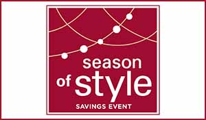 Hunter Douglas Season of Style savings event going on now! Rebates starting at $100* on qualifying purchases. Plus take an additional 20% off or receive a free installation! Only at Abbey Carpet & Floor in Adrian, Michigan.