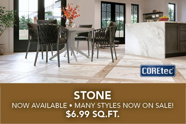 Stone is now available in many styles and is on sale for $6.99 sq. ft